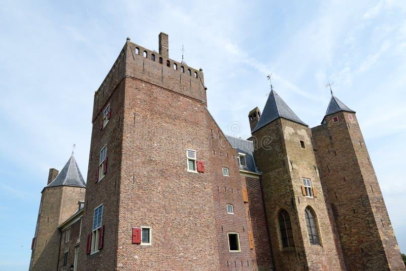 Assumburg castle in Heemskerk. Heemskerk, the Netherlands. August 2019.  Castle Assumburg in Heemskerk royalty free stock image