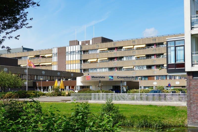 Entrance to Meerstate nursing home in Heemskerk. Heemskerk, the Netherlands. August 2019. Meerstate nursing home in Heemskerk royalty free stock image