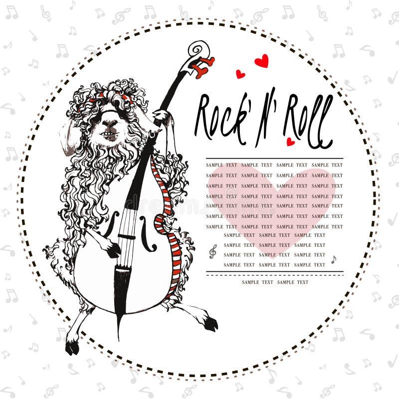 Heep de Scrazy que juega en el violoncelo stock de ilustración