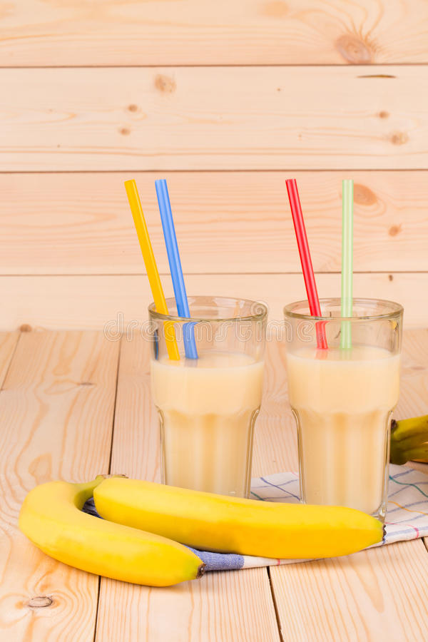 Heerlijk banaansap stock afbeelding