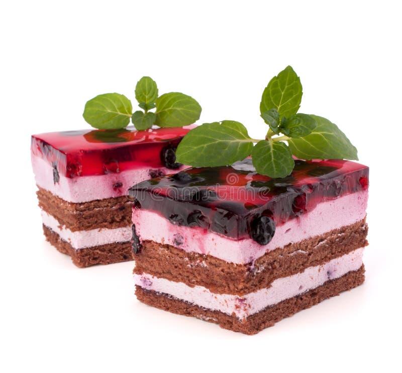 Heerlijk cakestuk stock afbeeldingen