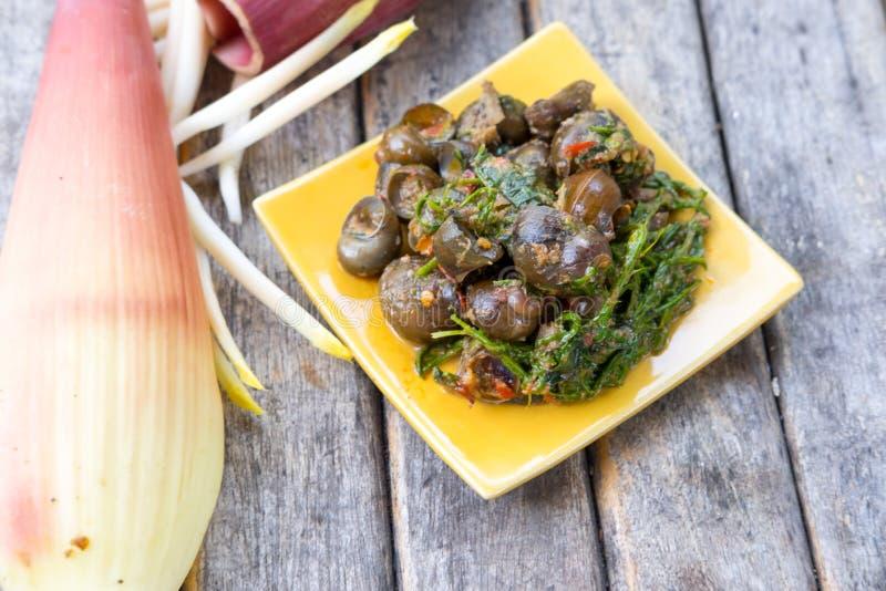 Heerlijk de kerrie Thais voedsel van de kerriemaagdenpalm royalty-vrije stock afbeelding