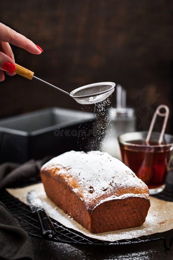 Heerlijk eigengemaakt kwark en rozijnenbrood royalty-vrije stock foto