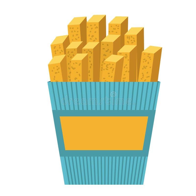 Heerlijk frieten geïsoleerd pictogramontwerp royalty-vrije illustratie