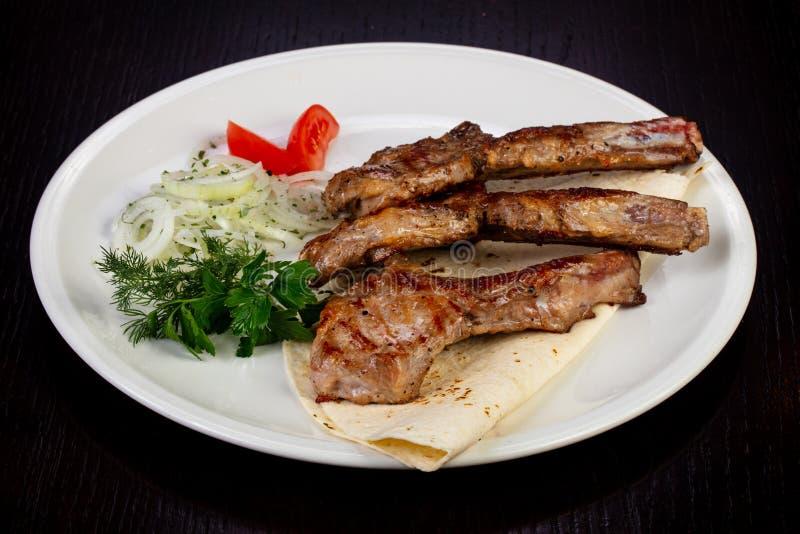Heerlijk gebraden kalfsvlees stock afbeelding