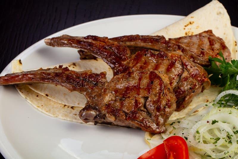 Heerlijk gebraden kalfsvlees royalty-vrije stock fotografie