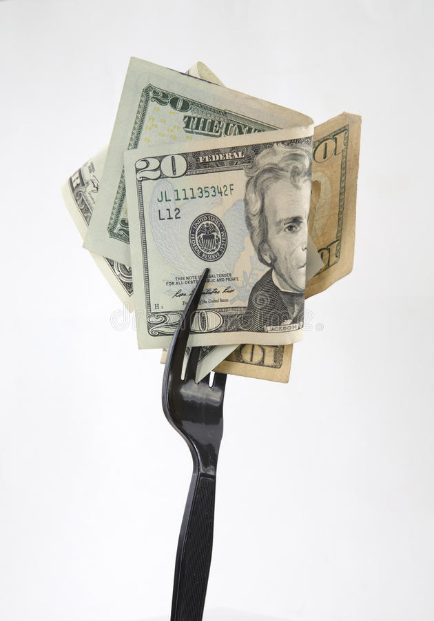 Heerlijk geldvoedsel royalty-vrije stock afbeelding