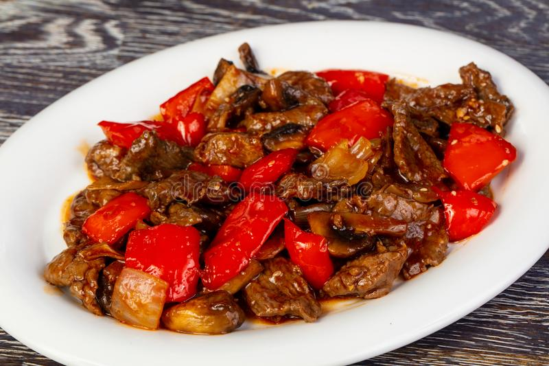 Heerlijk geroosterd rundvlees stock afbeelding