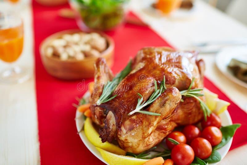 Heerlijk Gevuld Turkije voor Familiefeest stock foto