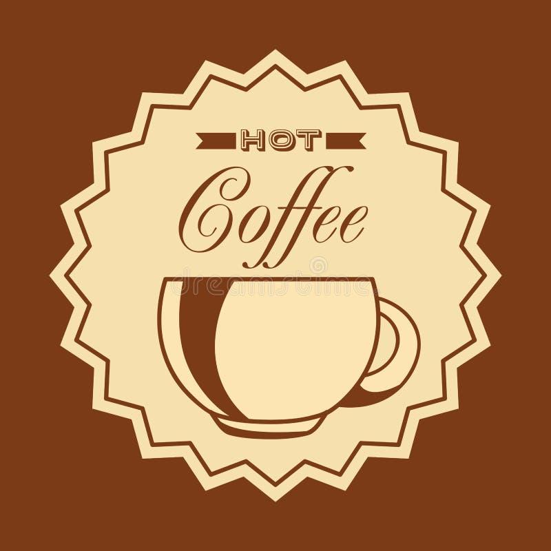 Heerlijk koffieontwerp stock illustratie