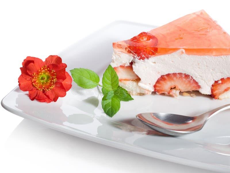 Heerlijk romig dessert royalty-vrije stock afbeeldingen