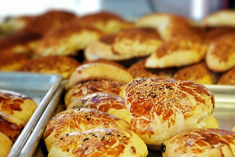 Heerlijk Smakelijk Gebakjevoedsel voor Ontbijt royalty-vrije stock foto