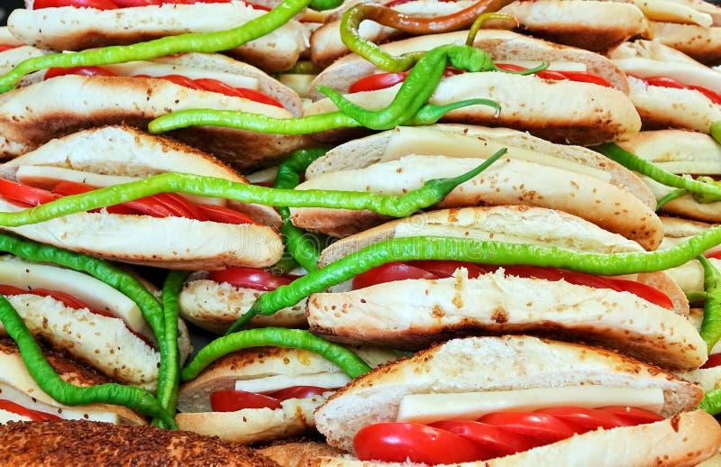 Heerlijk Smakelijk Gebakjevoedsel voor Ontbijt stock foto's