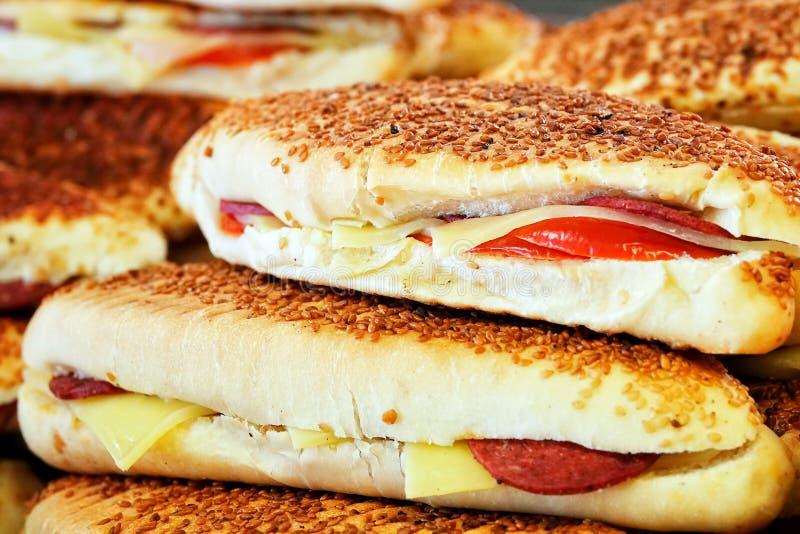 Heerlijk Smakelijk Gebakjevoedsel voor Ontbijt royalty-vrije stock afbeelding