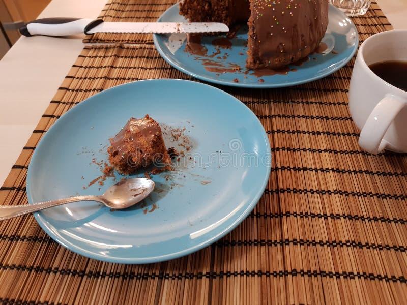 Heerlijk stuk van marmeren cake royalty-vrije stock foto's