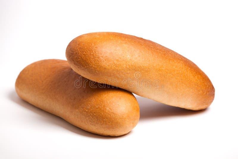 Heerlijk vers brood op een witte achtergrond royalty-vrije stock foto