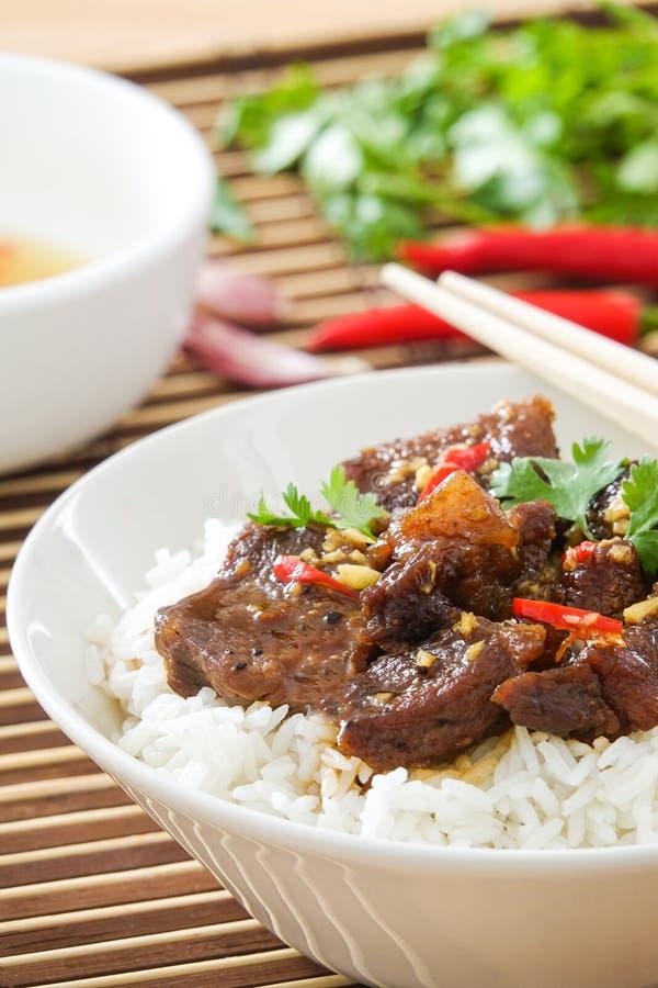 Heerlijk Vietnamees Gekarameliseerd Varkensvleesrecept royalty-vrije stock foto
