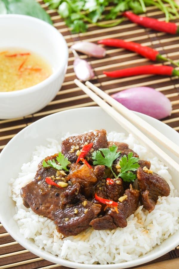Heerlijk Vietnamees Gekarameliseerd Varkensvleesrecept royalty-vrije stock foto's