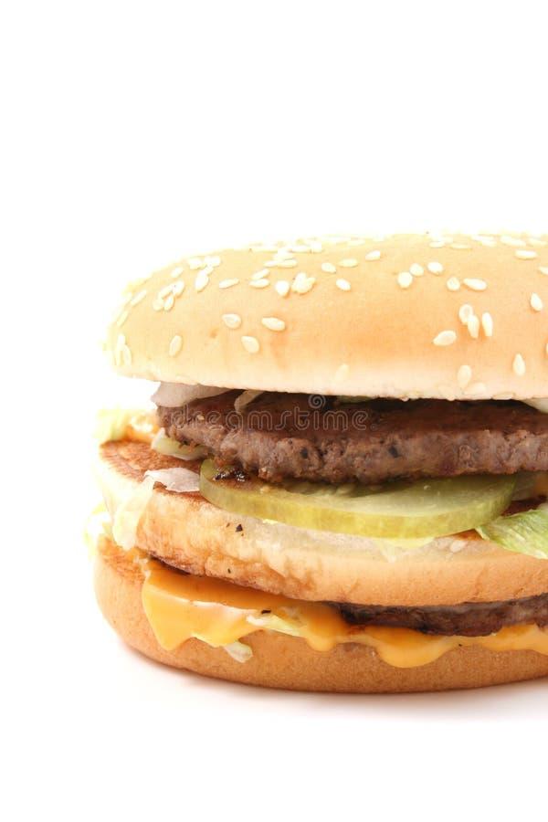 Heerlijke cheeseburger stock afbeeldingen