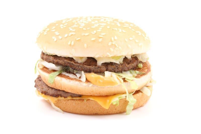 Heerlijke cheeseburger royalty-vrije stock foto