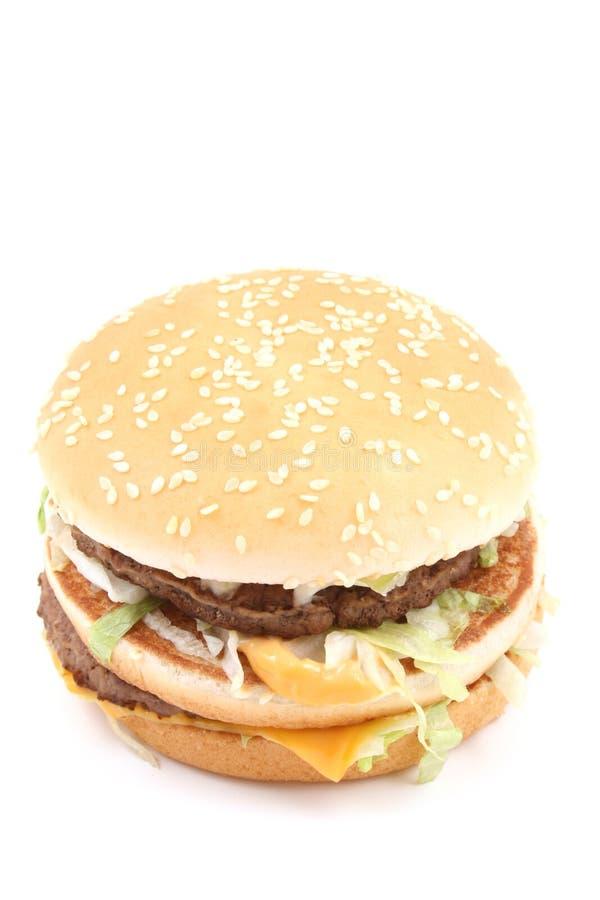 Heerlijke cheeseburger royalty-vrije stock afbeelding