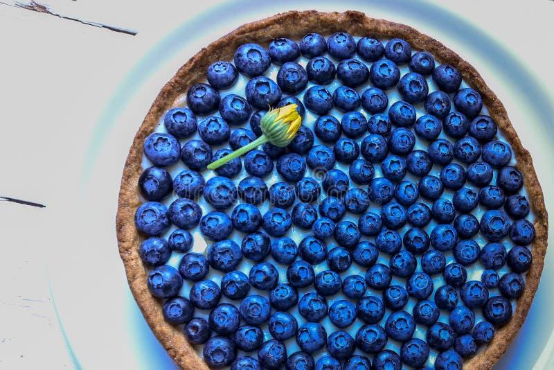 Heerlijke dessertbosbes scherp met verse bessen, zoete smakelijke kaastaart, bes, moerasbosbes, blauwe bosbespastei royalty-vrije stock fotografie
