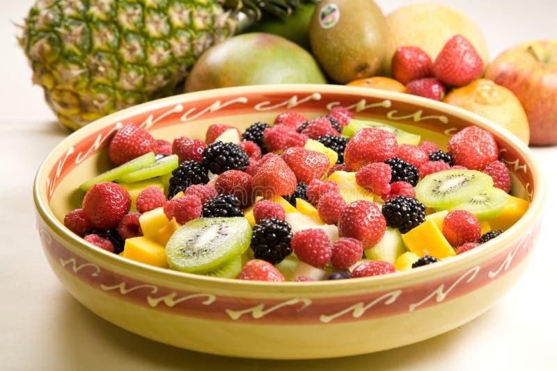 Heerlijke fruitsalade stock afbeeldingen