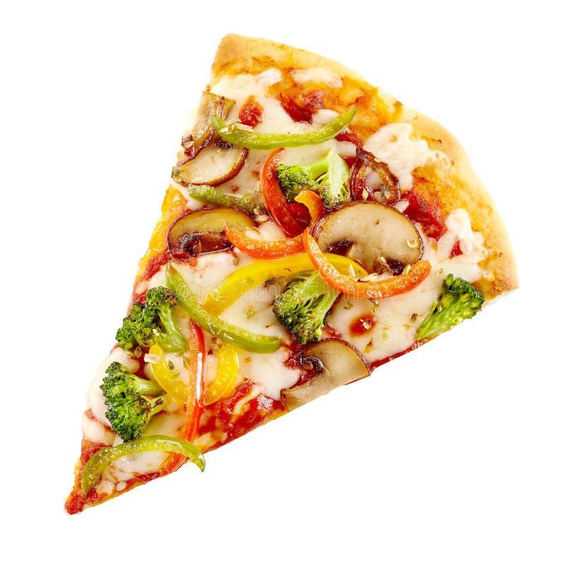 Heerlijke gastronomische pizza met saladegarnituur stock afbeeldingen