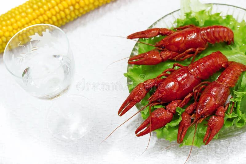 Heerlijke gekookte zeekreeftschotel stock fotografie