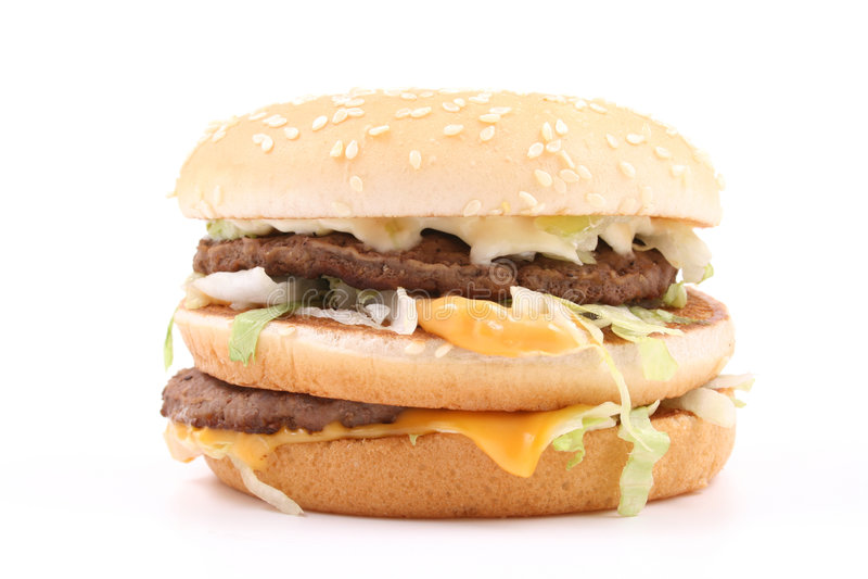 Heerlijke hamburger royalty-vrije stock afbeeldingen