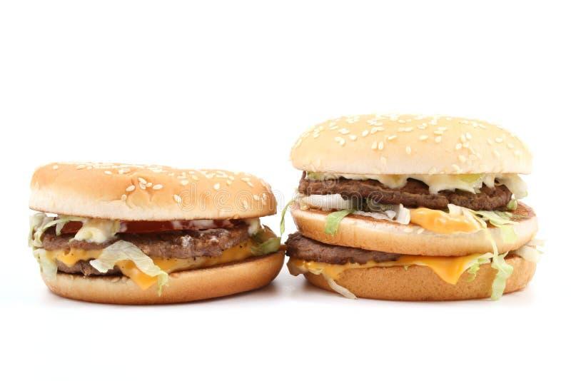 Heerlijke hamburgers royalty-vrije stock afbeeldingen