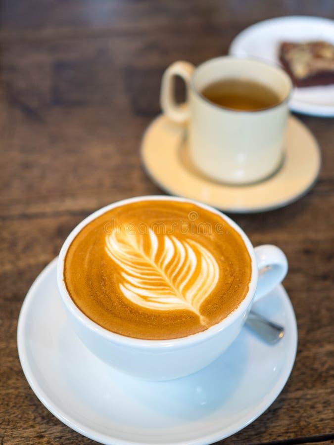 Heerlijke koffie de ochtend stock foto