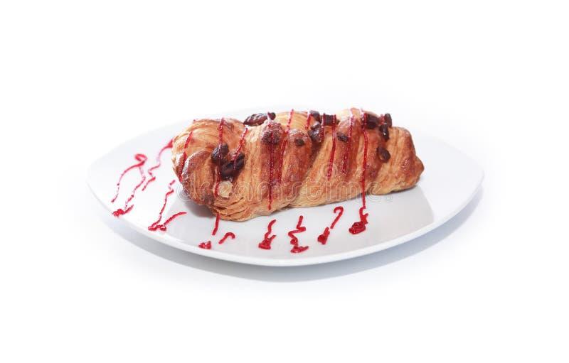 Heerlijke Pastei op Wit stock afbeelding