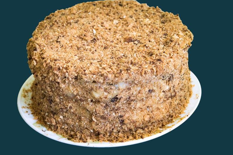 Heerlijke rookwolkcake Napoleon stock fotografie