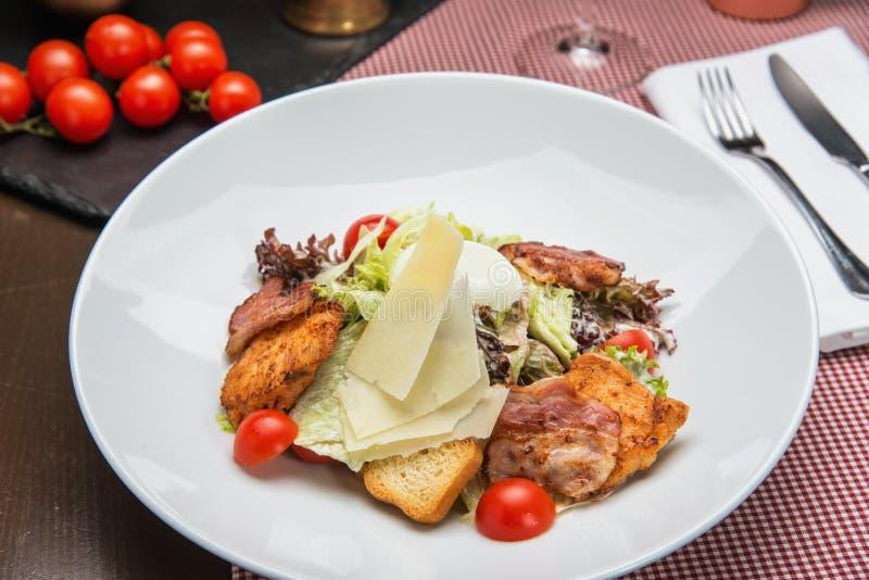 Heerlijke Salade Caesar stock foto