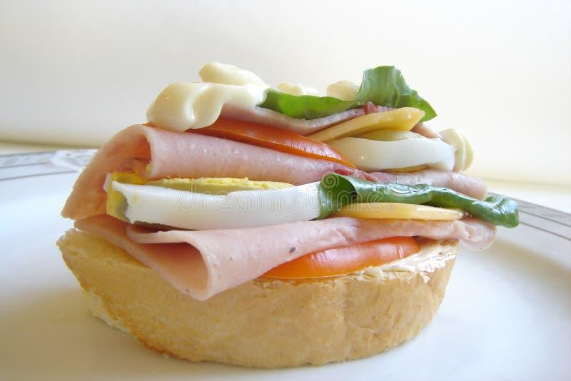 Heerlijke Sandwich Gratis Stock Afbeelding