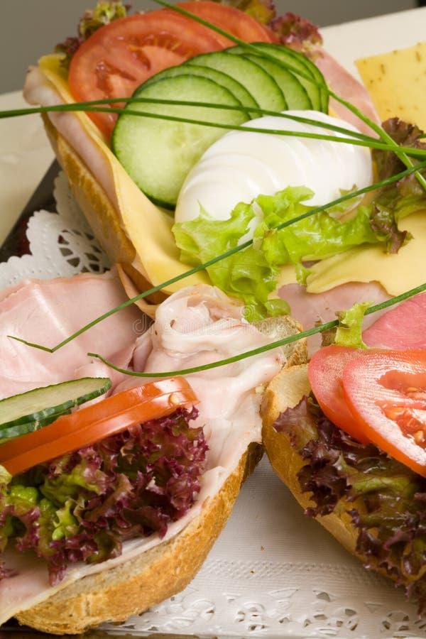 Heerlijke sandwiches royalty-vrije stock foto's