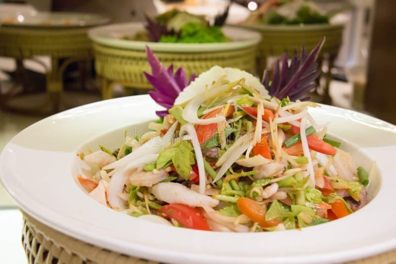 Heerlijke som tum Thaise kruidige salade royalty-vrije stock foto