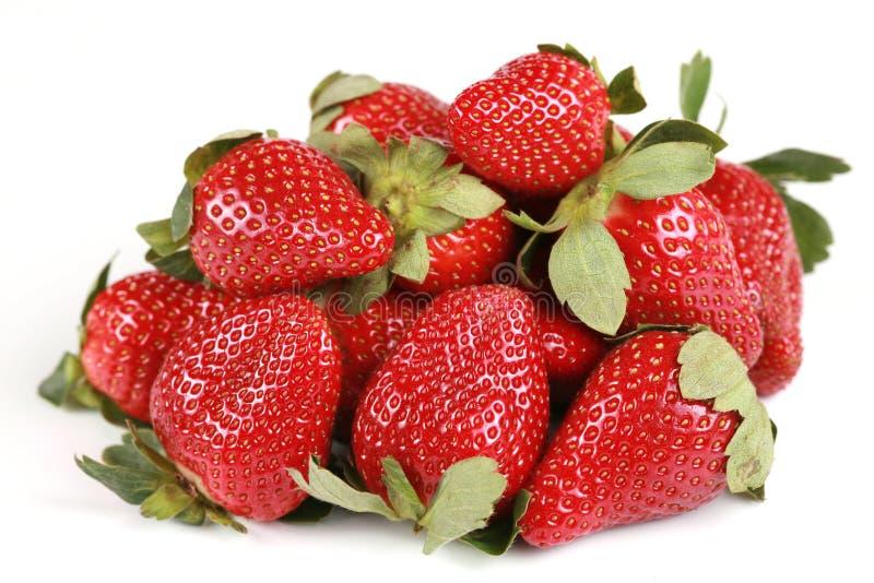 Heerlijke stapel van aardbeien royalty-vrije stock foto