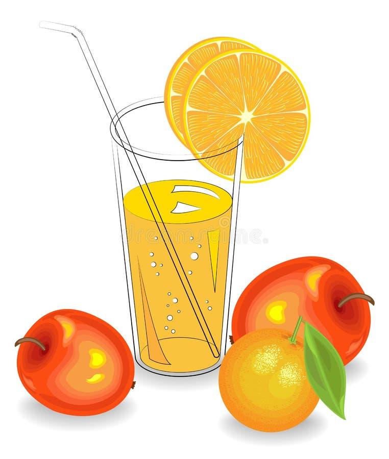 Heerlijke verfrissende drank E Vector illustratie royalty-vrije illustratie
