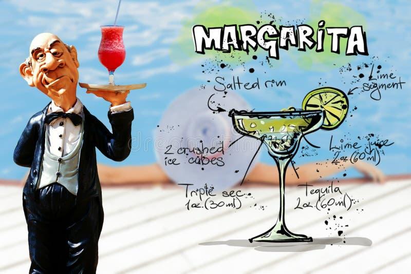 Heerlijke Verse Alcoholische Margarita Servings royalty-vrije stock afbeelding
