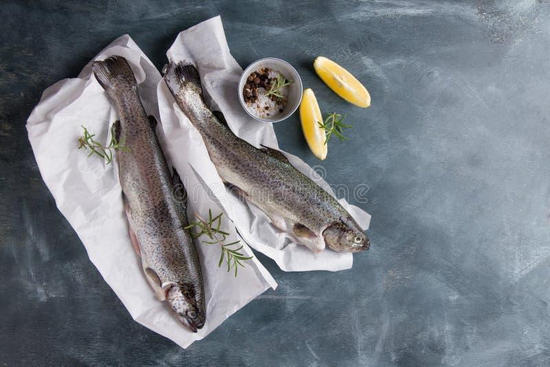 Heerlijke verse vissenforel royalty-vrije stock fotografie