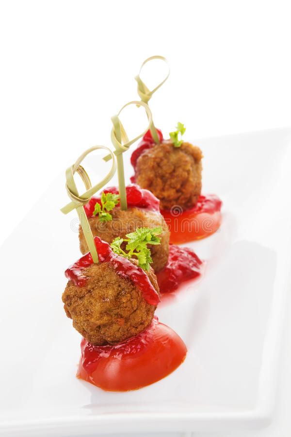 Heerlijke vleesballetjes royalty-vrije stock afbeelding