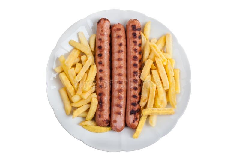 Worst en gebraden gerechten stock fotografie