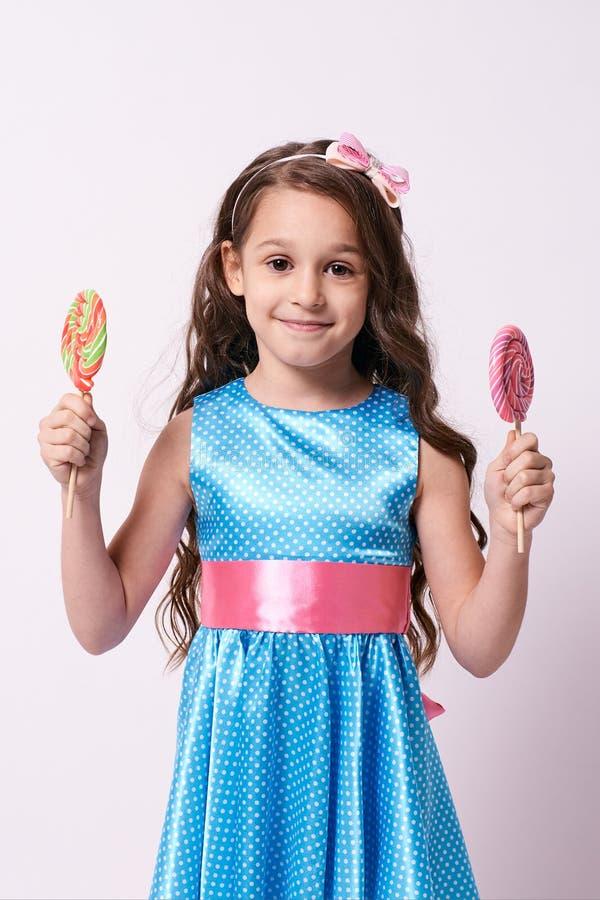 Heerlijke zoetheid Weinig ballerina Multicolored lollys stock fotografie