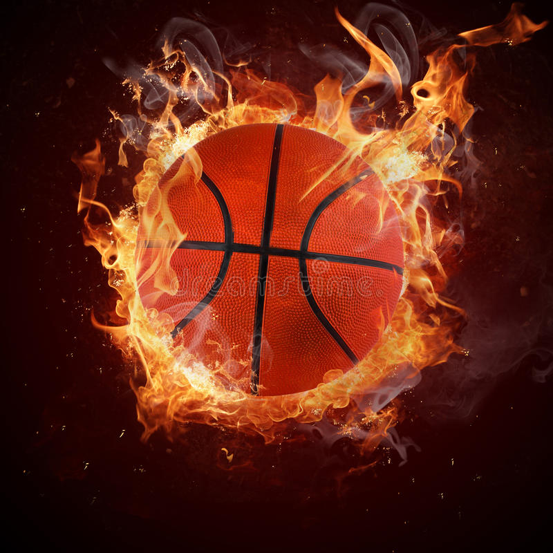 Heet basketbal royalty-vrije stock foto's