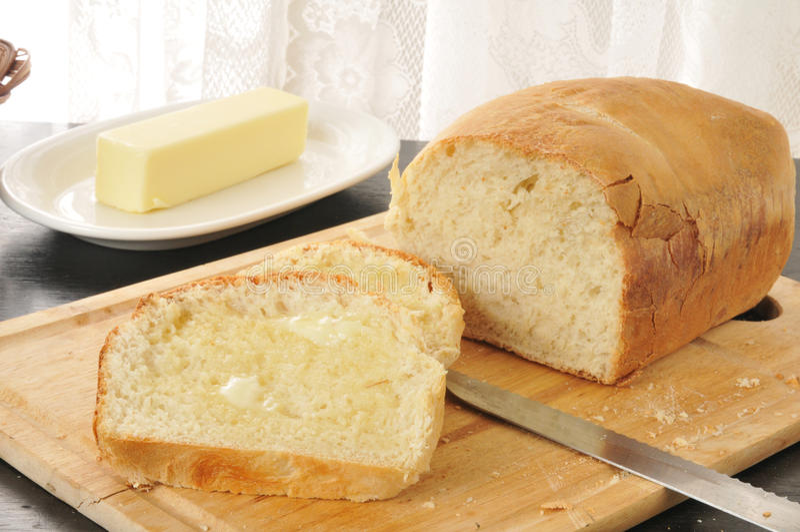 Heet beboterd brood royalty-vrije stock fotografie