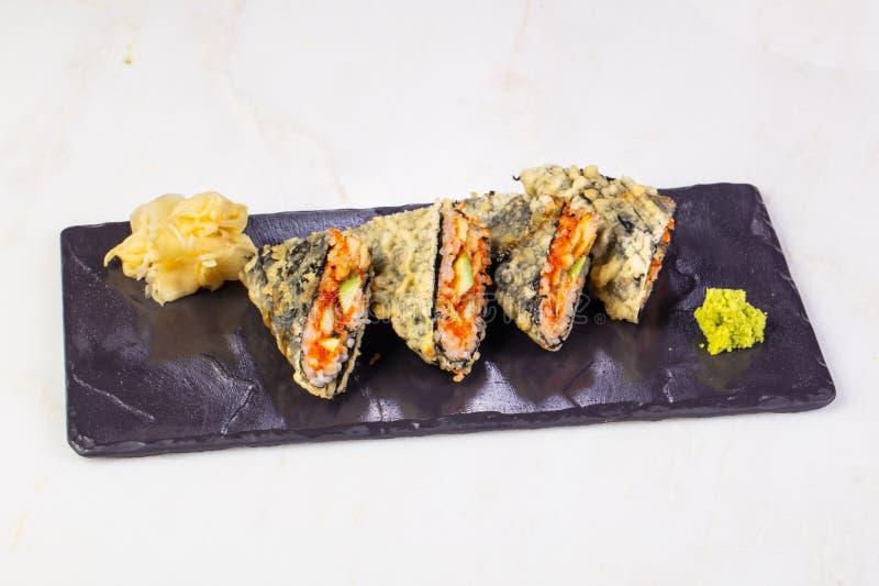 Heet broodje met paling stock afbeeldingen
