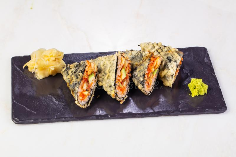 Heet broodje met paling royalty-vrije stock afbeeldingen