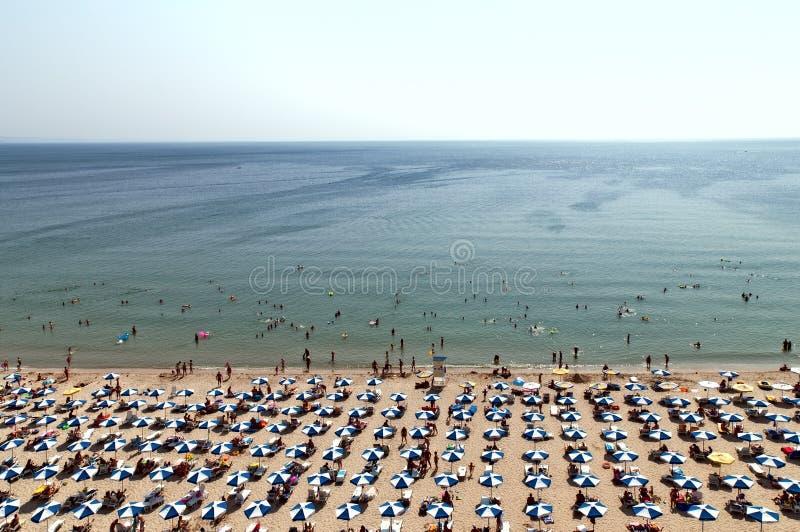 Heet het strandvogelperspectief Bulgarije van dagAlbena stock foto